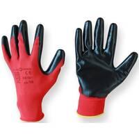 """Перчатка стрейч """"size:10""""/ красно-черные / А-1"""