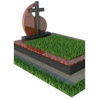 Надгробный памятник с крестом