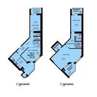 Двухуровневая квартира площадью 151,8 м2