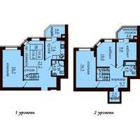 Двухуровневая квартира площадью 116,4 м2