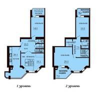 Двухуровневая квартира площадью 145,5 м2