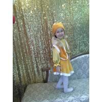 Карнавальний костюм Лисиці (оздоблення натуральним хутром лисиці)