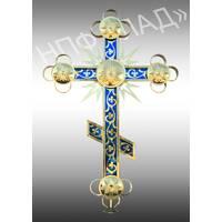 Нові православні хрести з напиленням нітридом титану і кольоровою підкладкою, купити