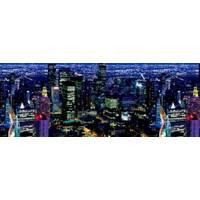 """3D-интерьерная панорама """"Ночной Мегаполис"""" 135 \ 270см."""