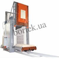 Прохідна піч СДОП-10.20.17/12,5 з електричним нагріванням та вентилятором, двома викотними подами