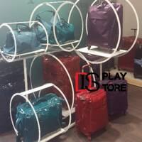 Рекламная напольная металлическая стойка под чемоданы