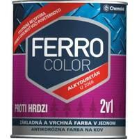 """Емаль """"Ferro Color"""" напівглянсова слонова кістка 0,75л. (RAL 1015)"""