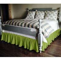 Підзор на ліжко Рюші Модель 2 Салатовий