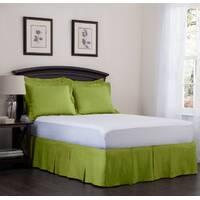 Юбка для кровати Салатовая Модель 5 строгий Мodern
