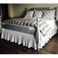 Підзор на ліжко Рюші Модель 2 Білий