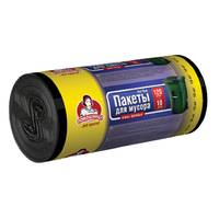 """Пакеты для мусора ТМ """"Помощница"""" 120л 10шт LDPE,  черные"""