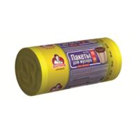"""Пакети для сміття ТМ """"Помічниця"""" 40л 30шт HDPE,  55см х 70см, жовті"""