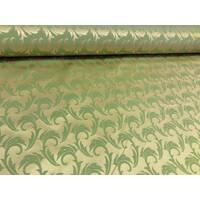 Столова тканина преміум класу маті (мал. 26), гілочка зелена з золотом