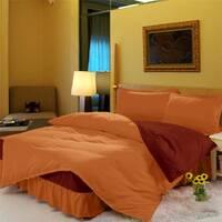 Комплект постельного белья с цельной простынью - подзором Медовый + Винный