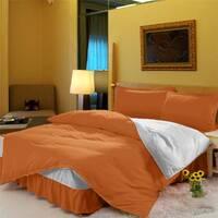 Комплект постельный с цельной простынью - подзором Медовый + Белый
