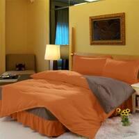 Комплект постельного белья с цельной простынью - подзором Медовый + Порох
