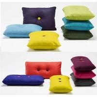 Декоративна подушка прямокутна з ґудзиком