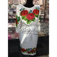"""Вишита сукня """"Червоні троянди"""" ПЛ 011"""