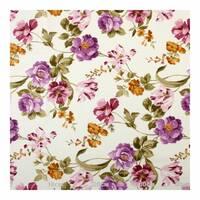 Тканина фіолетові квіти