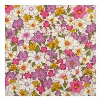 Тканина для штор з кольоровими квітами