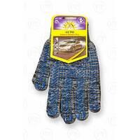 Перчатки с ПВХ точкой, 13 класс вязки, черные