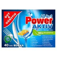Таблетки для посудомийних машин Edeka Gut & Gunstig Power-Aktiv 40 шт (Німеччина)