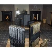 Чугунные ретро радиаторы с  орнаментом Великобритания.