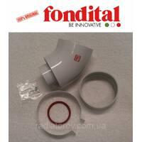 Коаксіальне коліно ø 100/60 мм, 45 град. (для настінних TFS і Bali TFS) Fondital
