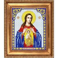 Заготовка для вишивки ікони Пр Богородиці Помічниці при пологах 87e221493f5b6