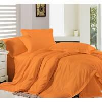 Комплект постельного белья Премиум Сатин Оранжевый