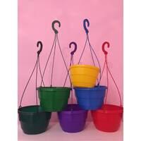 Горщик квітковий висячий з крючком 25 кольорові