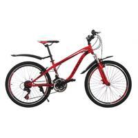 Велосипед 24 Remmy SPAZIO AM RS36 Vbr 13 чорно-червонийй глянець
