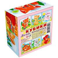 Кубики 4 шт. ЛЕСНЫЕ ЗВЕРЮШКИ