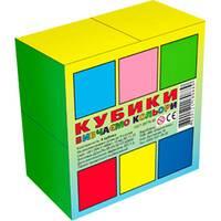 Кубики 4 шт. ВИВЧАЄМО КОЛЬОРИ