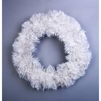 Новорічний вінок білий Н026