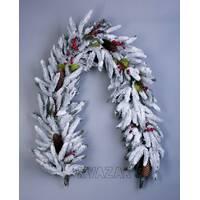 Колекція А-12: гірлянда з пластикових гілок, скручена нитками, з декором