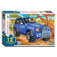 Пазли 12 Джип (коробка)