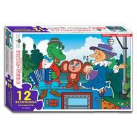 Пазли 12 Крокодил і Чебурашка (коробка)
