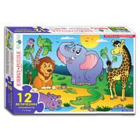 Пазли 12 В світі тварин (коробка)