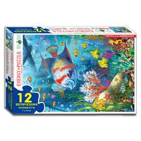 Пазли 12 Весела рибка (коробка)
