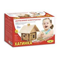 Деревянный конструктор Избушка (68 дет.)