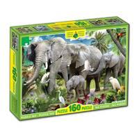 Пазлы 160, Слоны