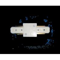 Коннектор для трекового LED світильника прямий білий
