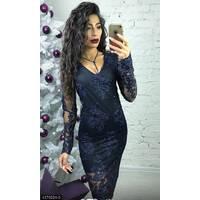 Платье 4376224-3 синий Зима 2017 Украина