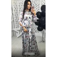 Платье 438186-3 серый Весна 2018 Украина