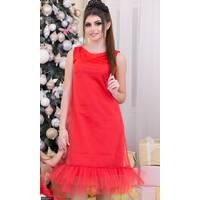 Платье 4376239-1 красный Зима 2017 Украина