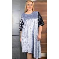 Платье 8512278-1 серый Зима 2017 Украина
