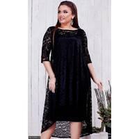 Платье 8512360-3 черный Зима 2017 Украина
