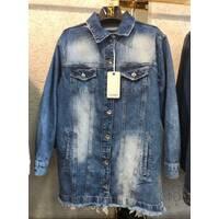 Куртка удлиненная джинсовая №ат7140  (ГЛ)