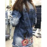 Куртка удлиненная джинсовая №ат7142 (ГЛ)